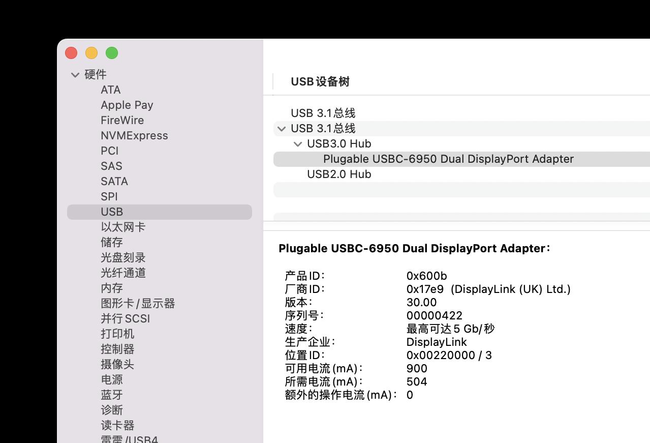 Plugable USBC-6950-DP in Profile